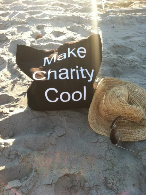 Charity goes to the beach